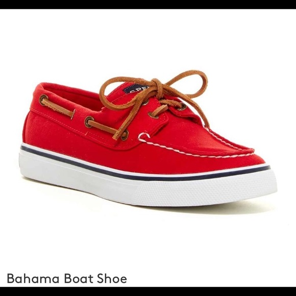 Red Sperry Bahama Boat Shoes | Poshmark